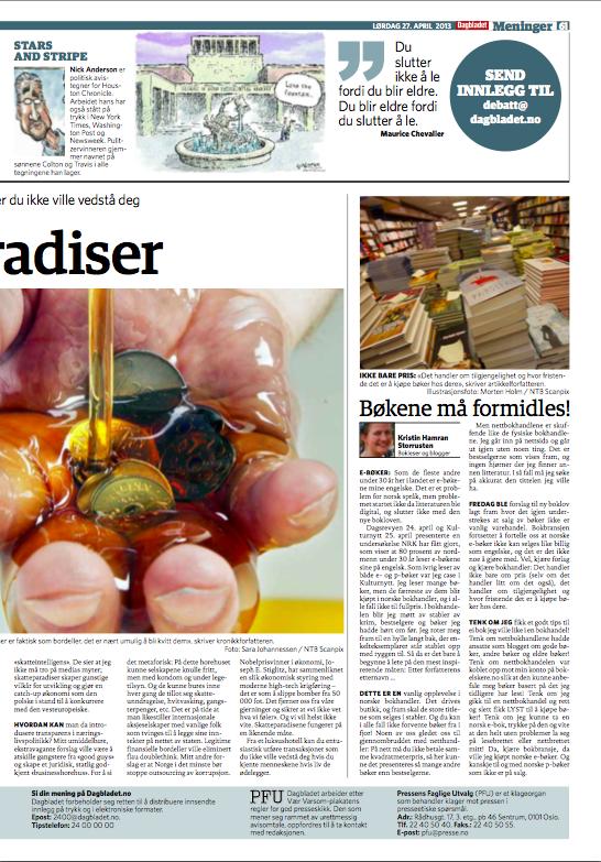 Dagbladet 27. april 2013